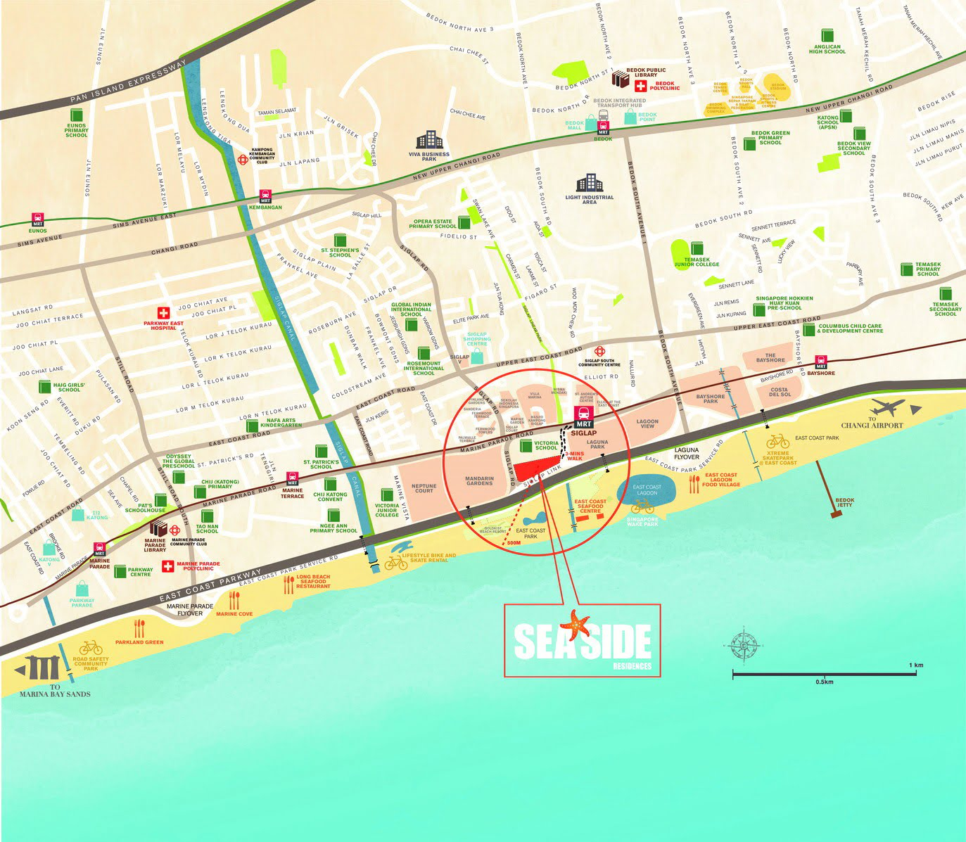 Seaside Residences Review Location Map