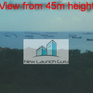 Seaside Residences view from 45m height