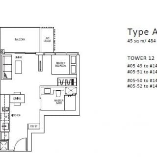 Sims Urban Oasis Floor Plan 1 bed