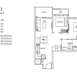 Sims Urban Oasis Floor Plan 2 bed