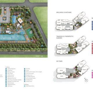 Sturdee Residences - site plan with skyparks