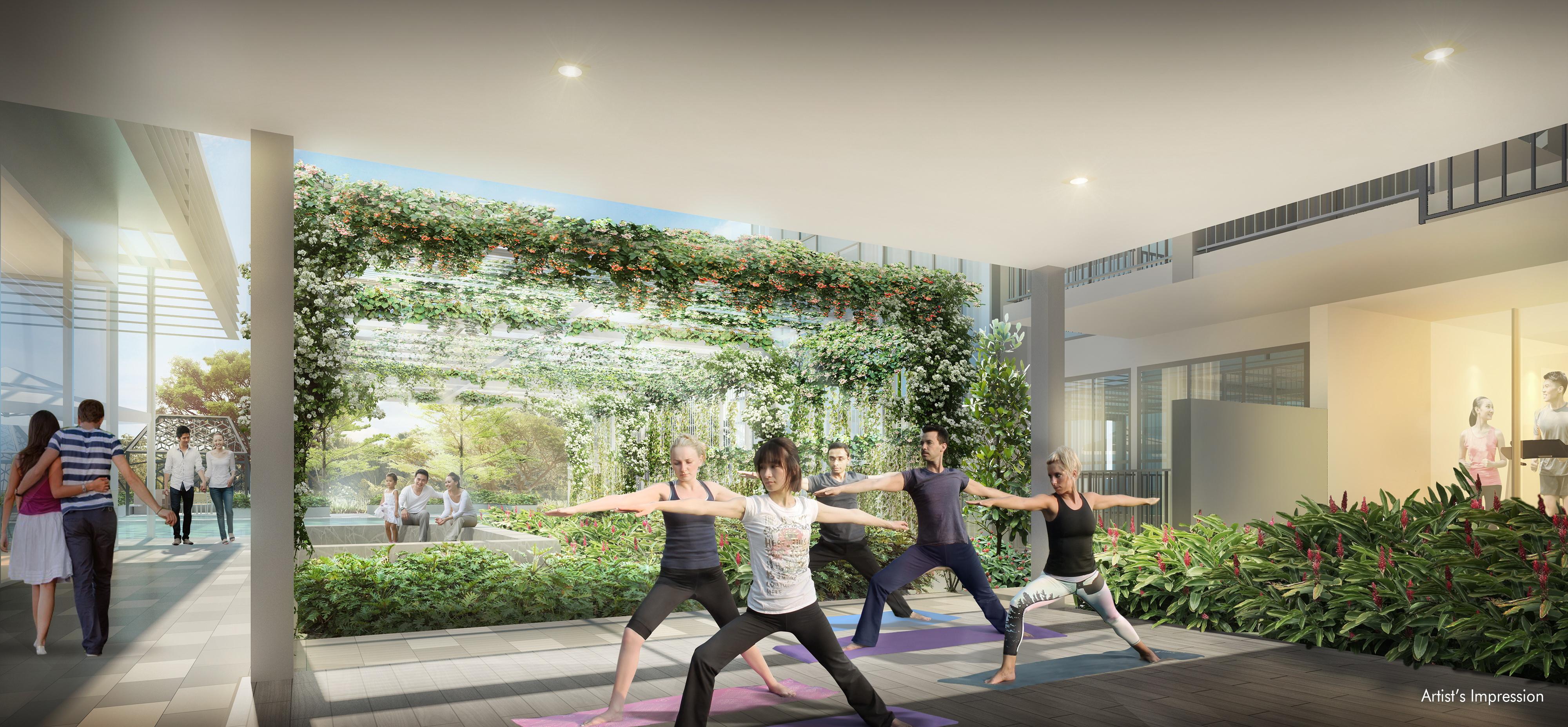 Gem Residences - Yoga class