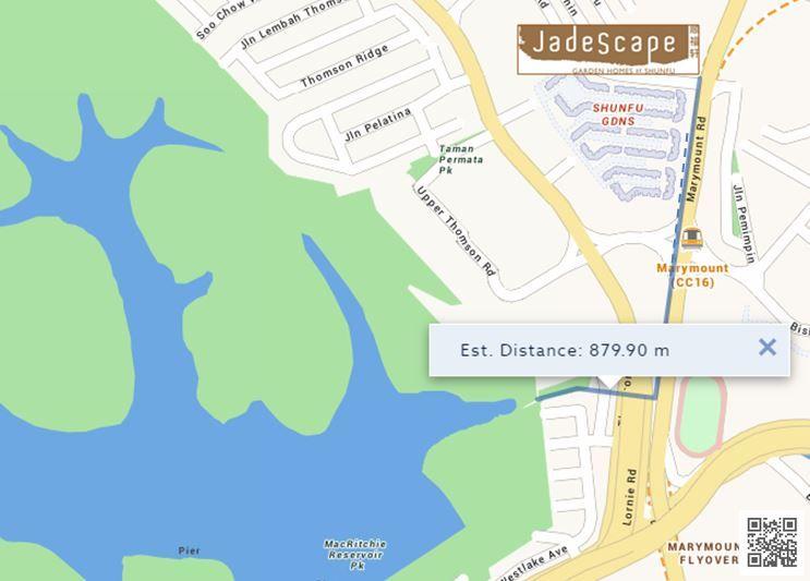 JadeScape to MacRichie Park Route