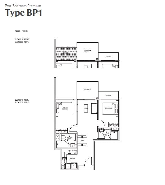 affinity at serangoon 2br Premium