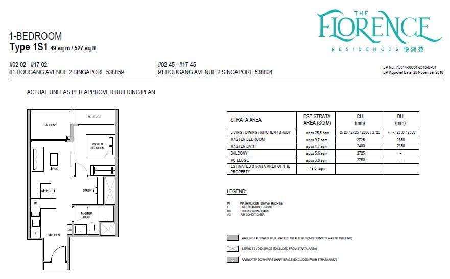 newlaunchguru-the-florence-residences-1bed floor plan