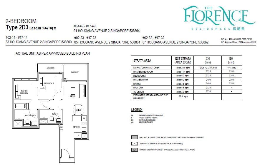 newlaunchguru-the-florence-residences-2bed floor plan