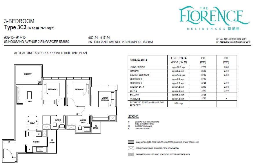 newlaunchguru-the-florence-residences-3 bed floor plan