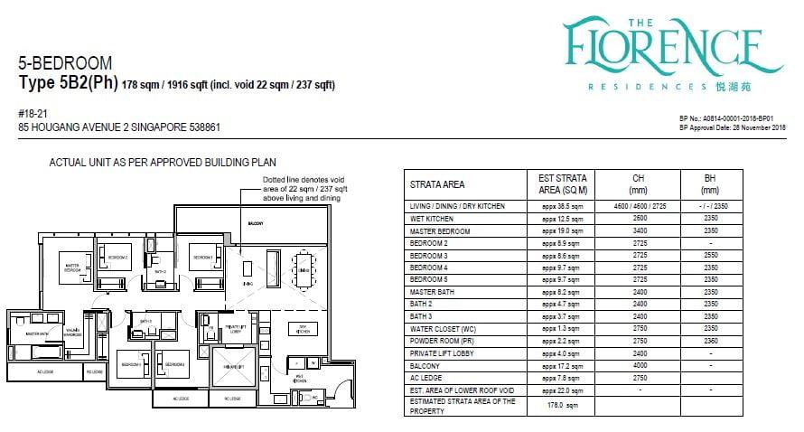newlaunchguru-the-florence-residences-5 bed floor plan
