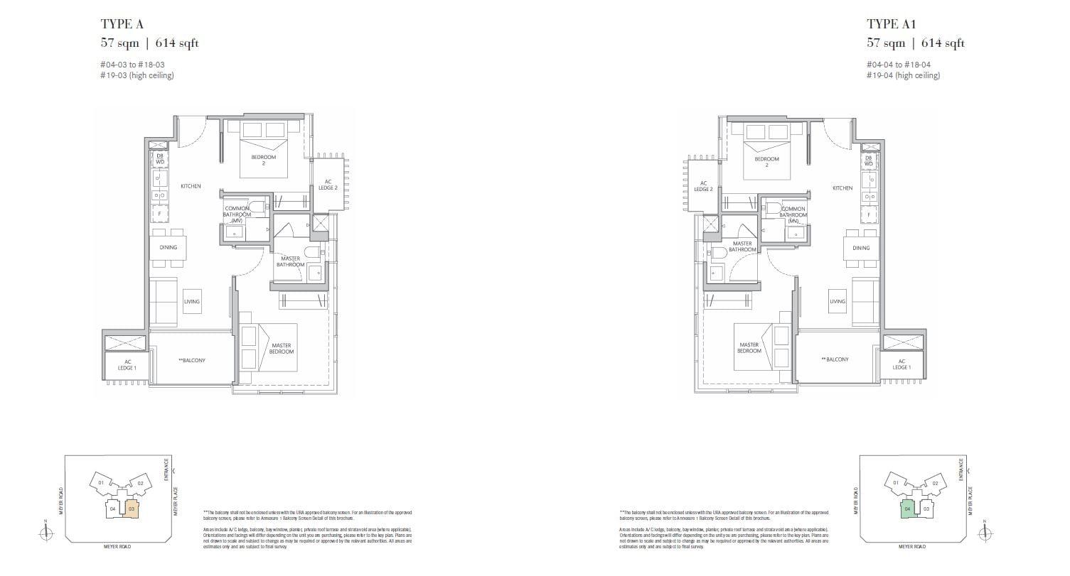 One Meyer 2 bedroom