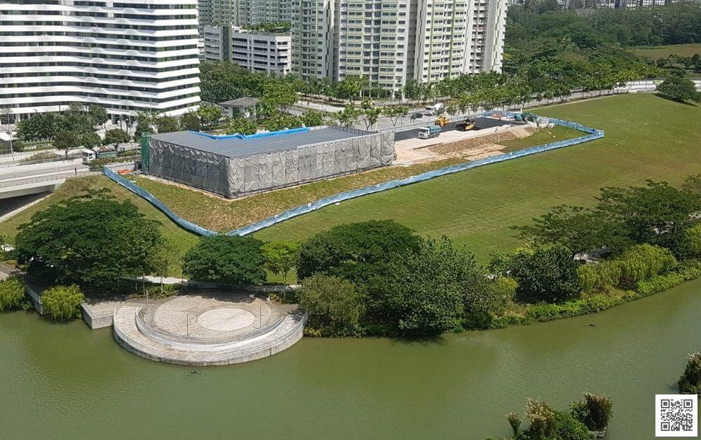Sumang Walk EC Showflat in construction