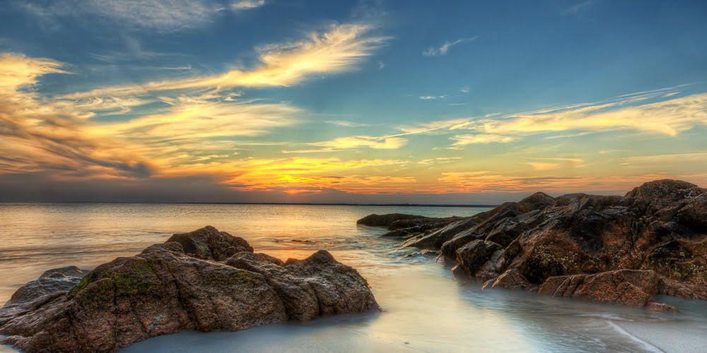 Amber Park Sunset at East Coast