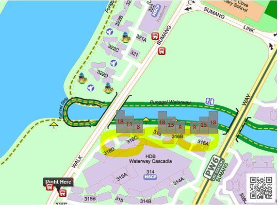 Waterway HDB Opposite to Sumang Walk EC
