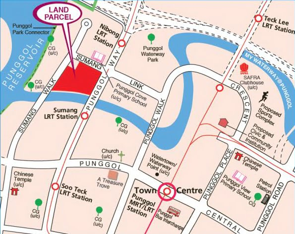 Sumang Walk EC land parcel location