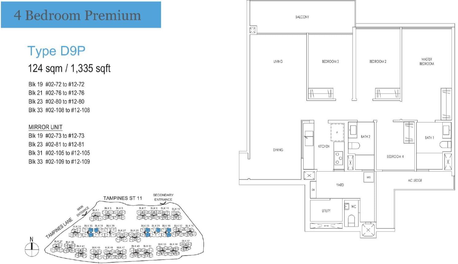 Treasure at Tampines Floor Plan D9P