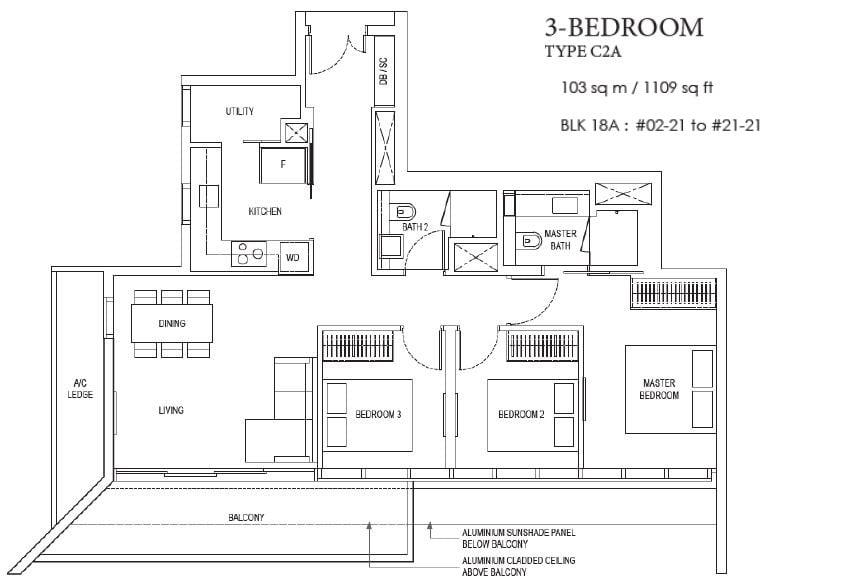 amber park floor plan 3bedroom