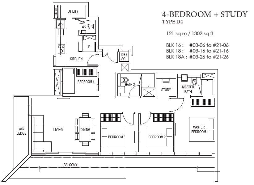 amber park floor plan 4 bedroom