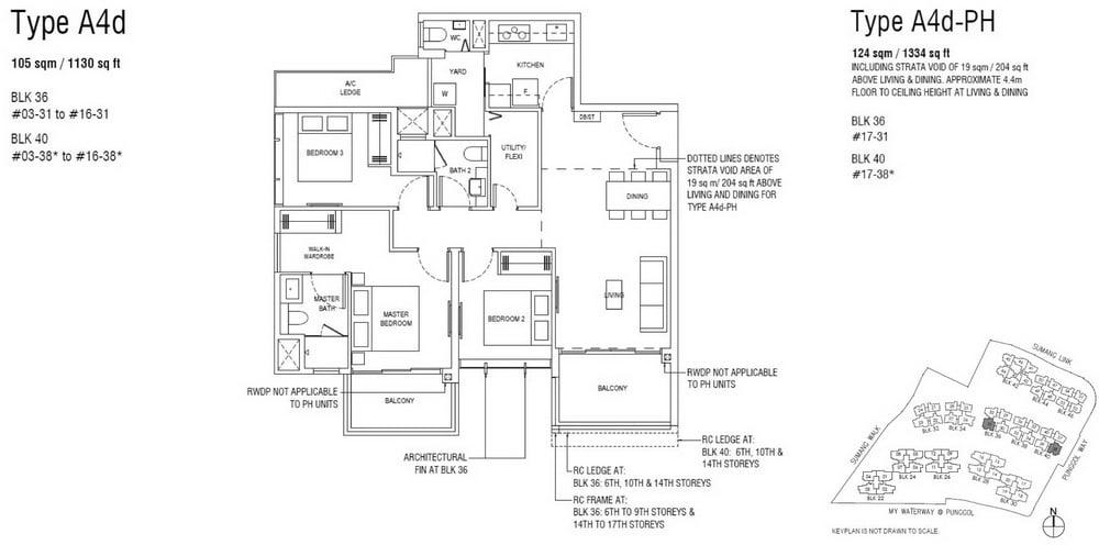 Piermont Grand EC Floor Plan 3 Bedroom Premium