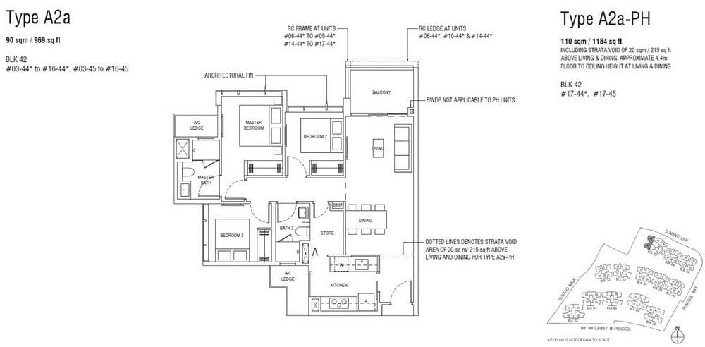 Piermont Grand EC Floor Plan 3 Bedroom Superior