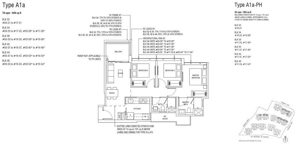 Piermont Grand EC Floor Plan 3 Bedroom
