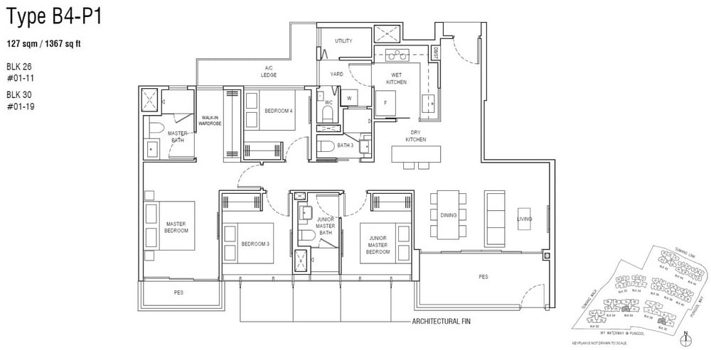 Piermont Grand EC Floor Plan 4 Bedroom Premium