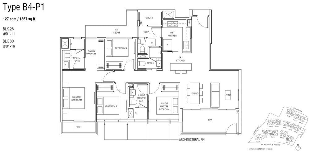 Piermont Grand EC Floor Plan 4 Bedroom Premium