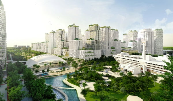 jurong lake district artist impression