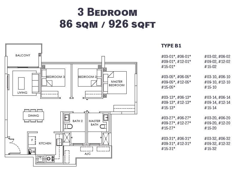 OLA EC 3 Bedroom
