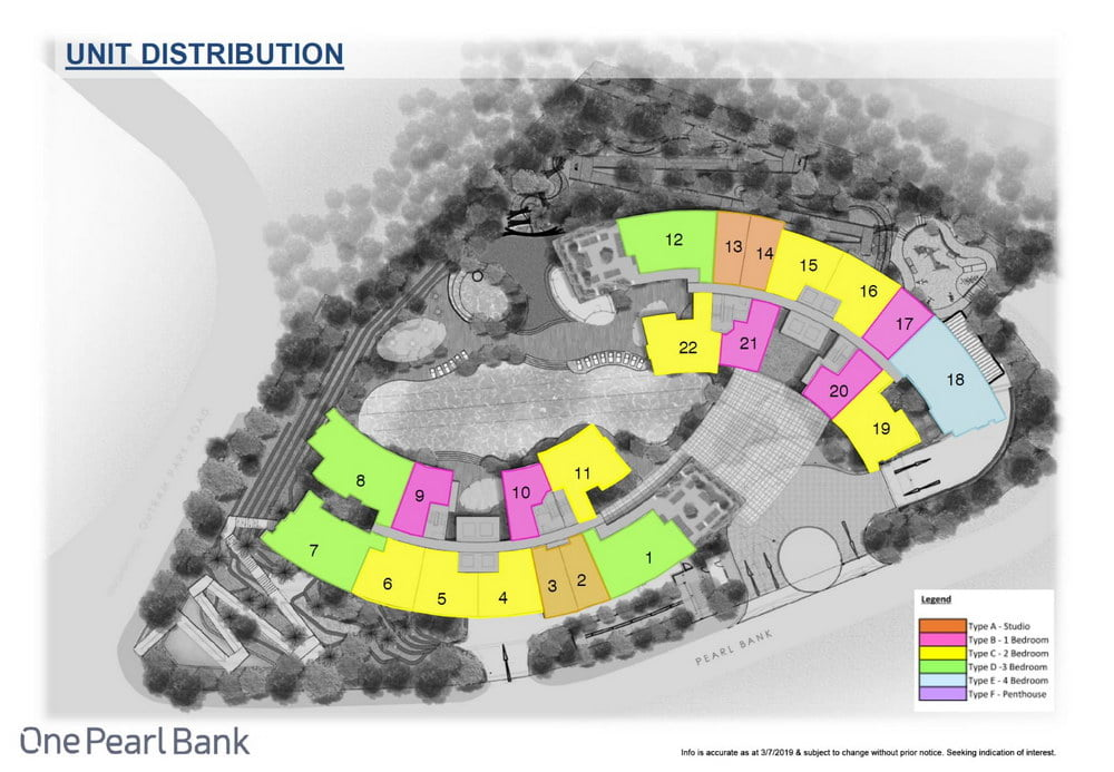 One Pearl Bank Site Plan Unit Distribution