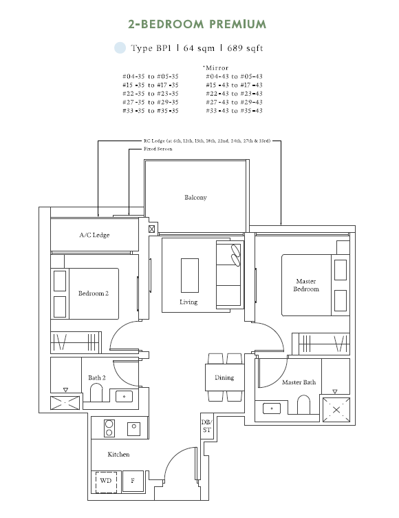 avenue south residences 2bed premium