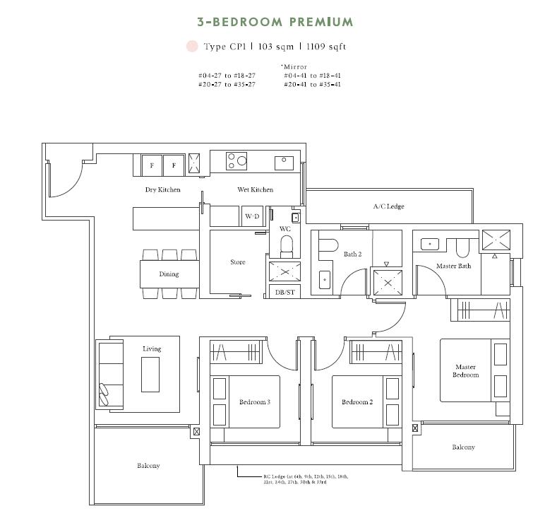 avenue south residences 3bed premium