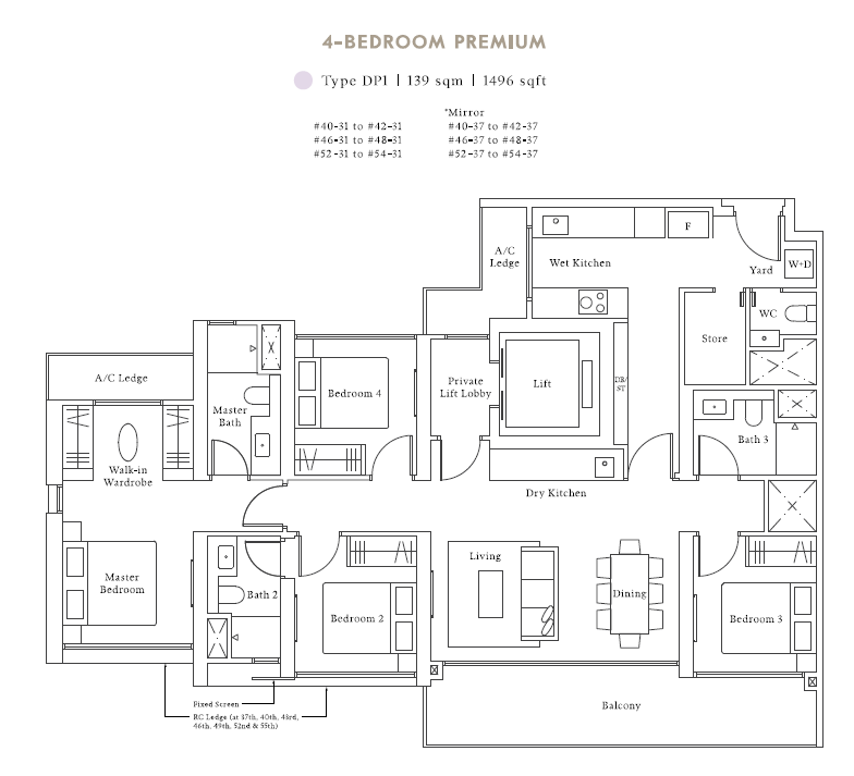 avenue south residences 4bed premium