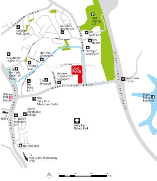 Dairy Farm Residences Location