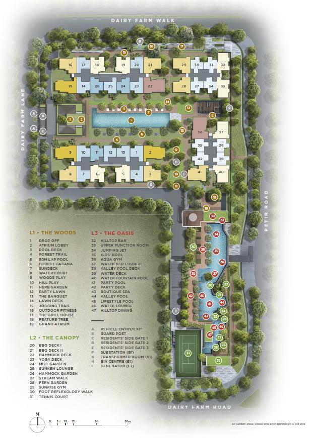 Dairy Farm Residences site plan