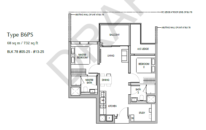 sengkang grand residences 2+S floor plan