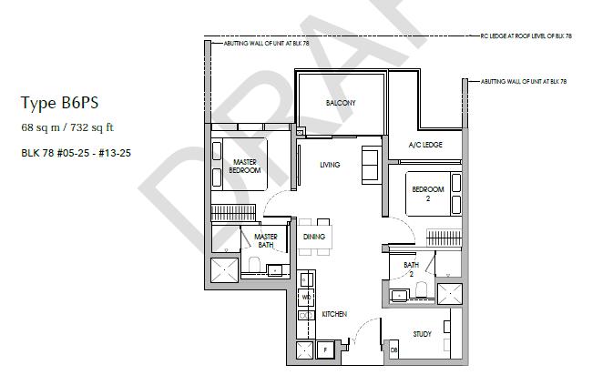 sengkang grand residences 2+S floor plan