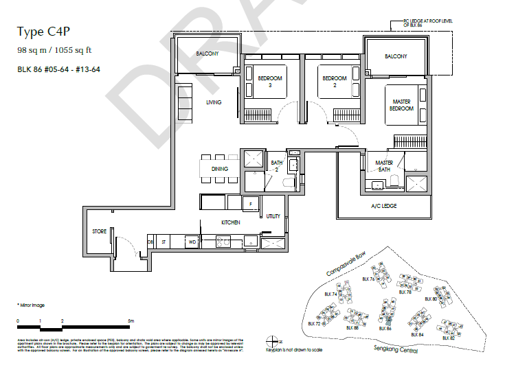 sengkang grand residences 3P floor plan