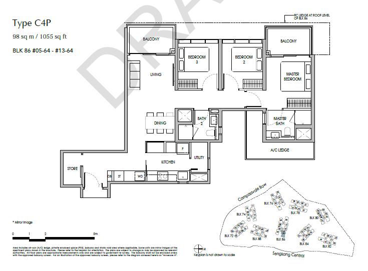 sengkang grand residences 3P floor plan