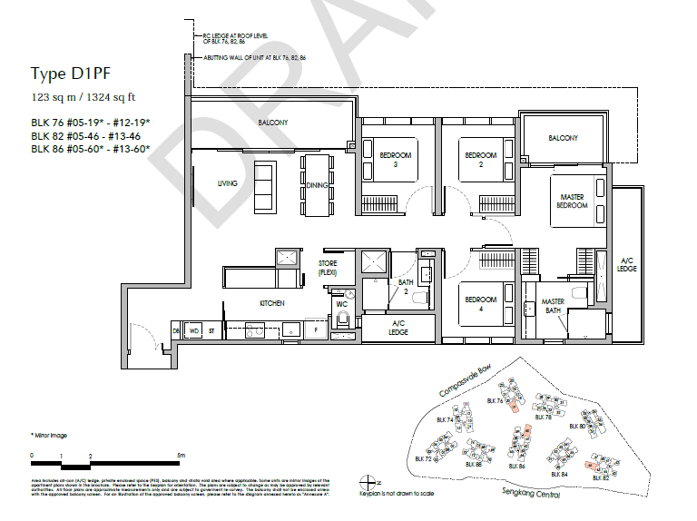 sengkang grand residences 4P floor plan