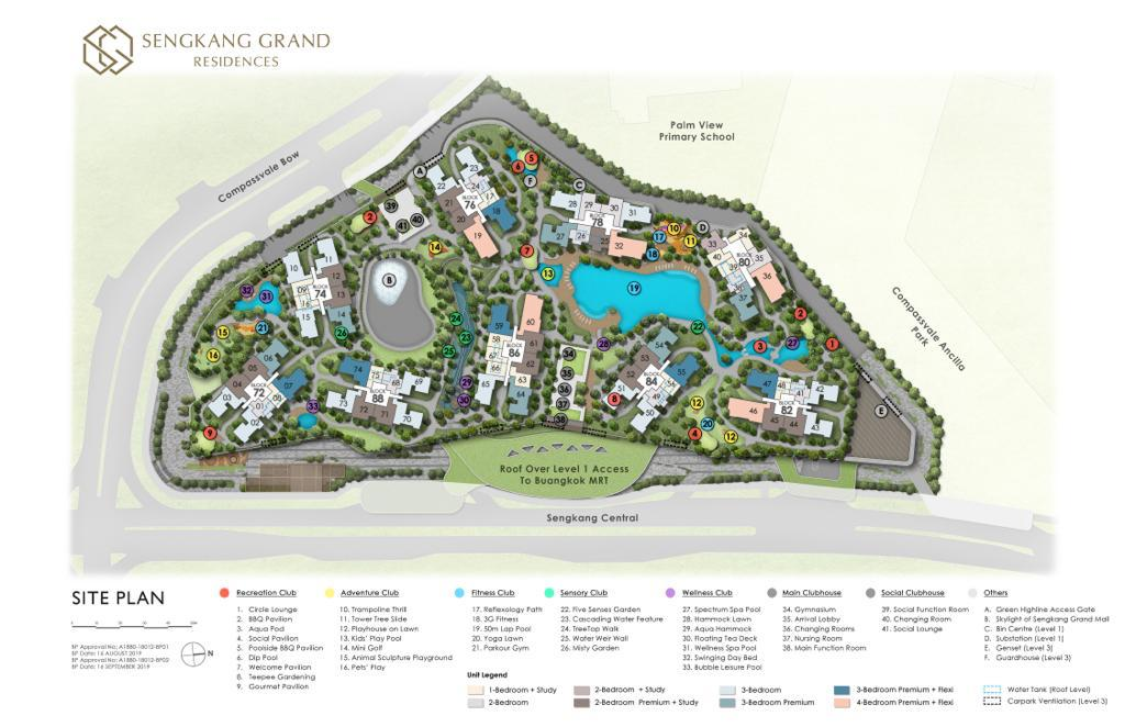 sengkang grand residences site plan