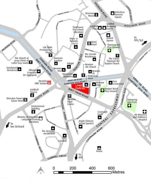 Kopar at Newton Location Map