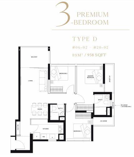 linq 3 bedroom