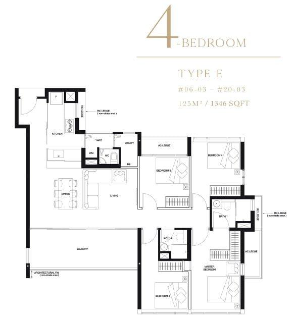 linq 4 bedroom