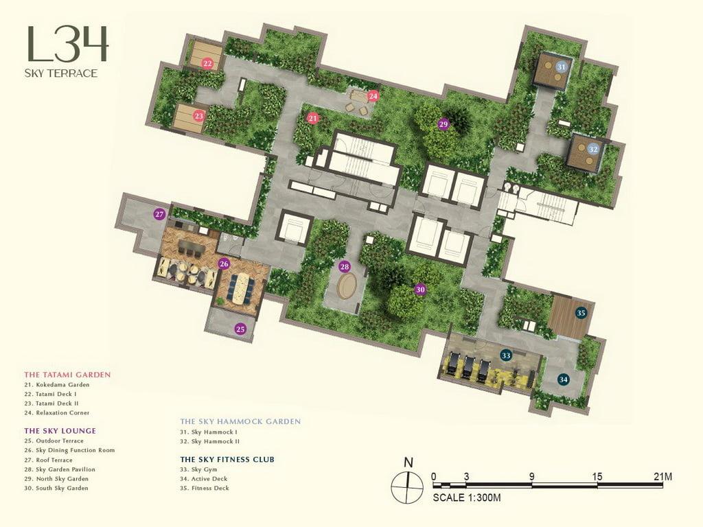 One Bernam siteplan Level 34
