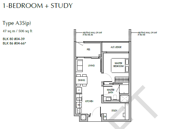 sengkang grand residences 1+S floor plan